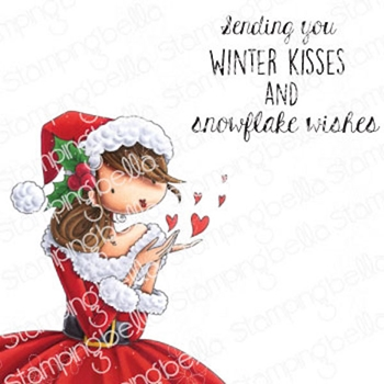 Stamping Bella Cling Stamps UPTOWN GIRL KATRINA'S CHRISTMAS KISSES eb985