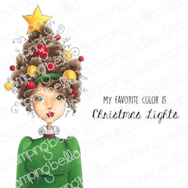 Stamping Bella Cling Stamps MOCHI CHRISTMAS GIRL eb981 zoom image