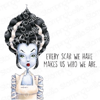 Stamping Bella Cling Stamps MOCHI BRIDE OF FRANKENSTEIN eb982