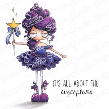 Stamping Bella Cling Stamps ODDBALL SUGAR PLUM FAIRY eb978