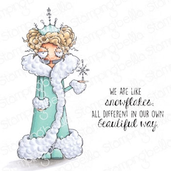 Stamping Bella Cling Stamps ODDBALL SNOW QUEEN eb979