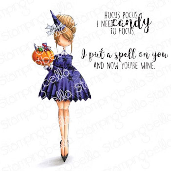 Stamping Bella Cling Stamps CURVY GIRL LOVES HALLOWEEN eb990 zoom image