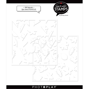 PhotoPlay LEAVES Stencils Set Of 2 sis2352*
