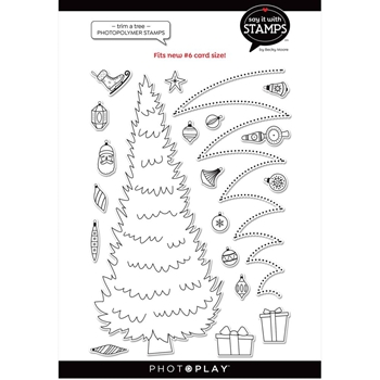 PhotoPlay TRIM A TREE Clear Stamps sis2361*