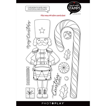 PhotoPlay NUTCRACKER CANDY CANE Clear Stamps sis2363*
