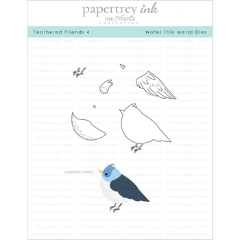 Ink to Paper FEATHERED FRIENDS 4 Dies ITP177