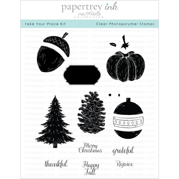 Ink to Paper TAKE YOUR PLACE KIT Clear Stamps 1207*