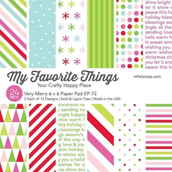 My Favorite Things VERY MERRY 6x6 Inch Paper Pad 6815