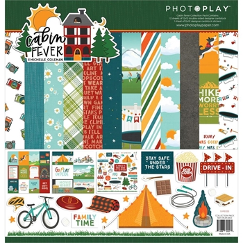PhotoPlay CABIN FEVER 12 x 12 Collection Pack cbf2453