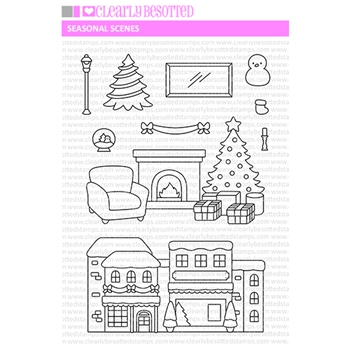Clearly Besotted SEASONAL SCENES Clear Stamps CBSSE657