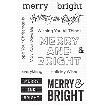 My Favorite Things MERRY AND BRIGHT Clear Stamps cs506