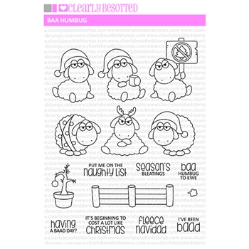 Clearly Besotted BAA HUMBUG Clear Stamps