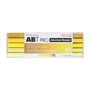 Tombow YELLOW TONES ABT PRO Alcohol-Based Art Markers Set 56967