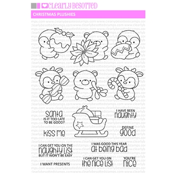 Clearly Besotted CHRISTMAS PLUSHIES Clear Stamps