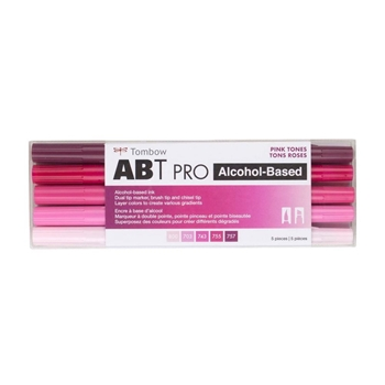 Tombow PINK TONES ABT PRO Alcohol-Based Art Markers Set 56968