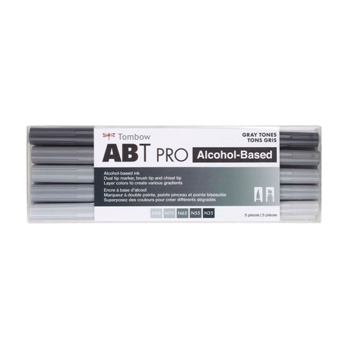 Tombow GRAY TONES ABT PRO Alcohol-Based Art Markers Set 56969 Preview Image