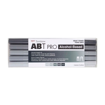 Tombow GRAY TONES ABT PRO Alcohol-Based Art Markers Set 56969