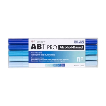 Tombow BLUE TONES ABT PRO Alcohol-Based Art Markers Set 56970