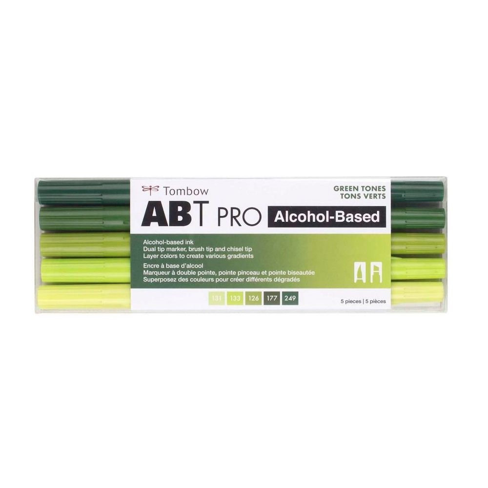 Tombow GREEN TONES ABT PRO Alcohol-Based Art Markers Set 56971 zoom image