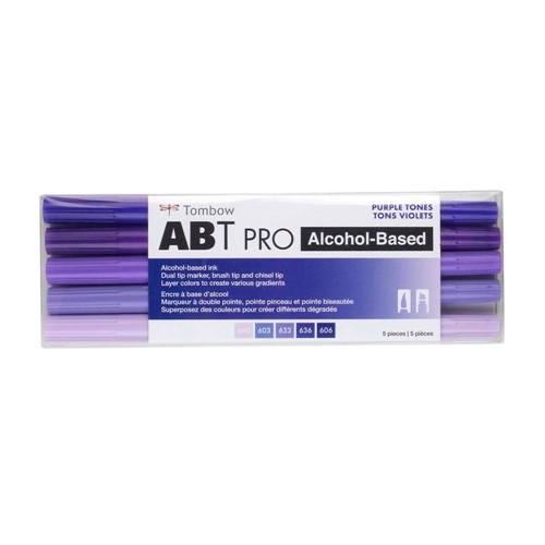 Tombow PURPLE TONES ABT PRO Alcohol-Based Art Markers Set 56972 Preview Image