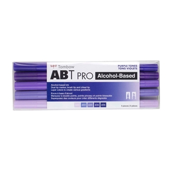 Tombow PURPLE TONES ABT PRO Alcohol-Based Art Markers Set 56972
