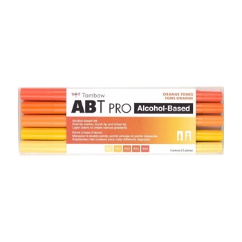 Tombow ORANGE TONES ABT PRO Alcohol-Based Art Markers Set 56973