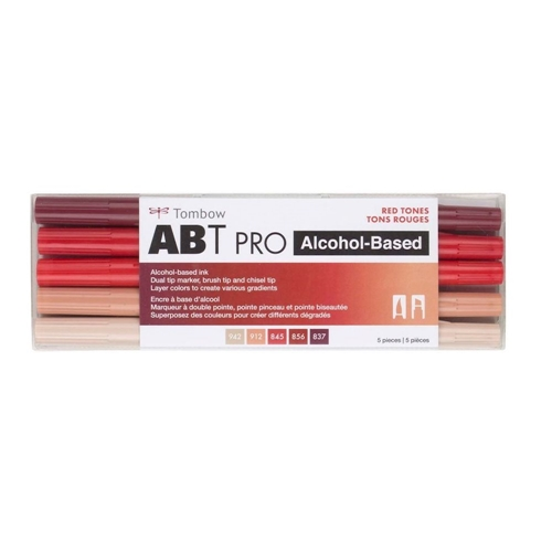 Tombow RED TONES ABT PRO Alcohol-Based Art Markers Set 56974 Preview Image