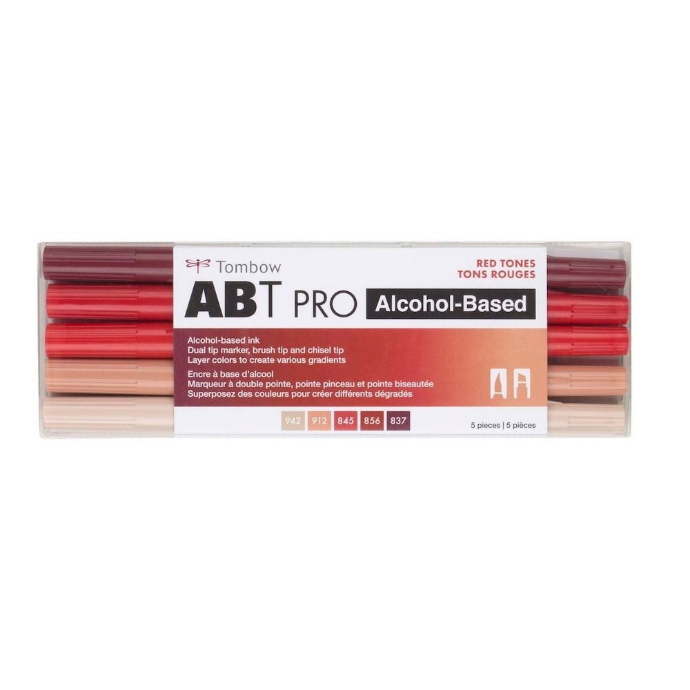 Tombow RED TONES ABT PRO Alcohol-Based Art Markers Set 56974 zoom image
