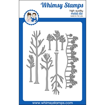 Whimsy Stamps TREE ASSORTMENT Dies WSD493
