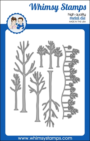 Whimsy Stamps TREE ASSORTMENT Dies WSD493 zoom image
