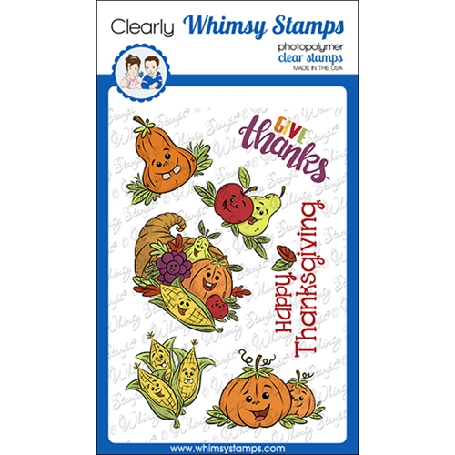 Whimsy Stamps THANKSGIVING CORNUCOPIA Clear Stamps KHB106a Preview Image