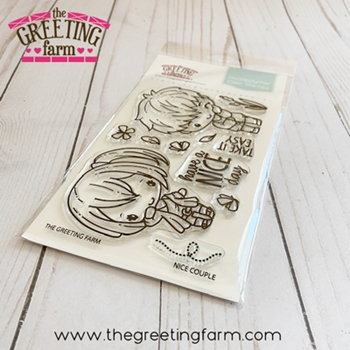 The Greeting Farm NICE COUPLE Clear Stamps tgf565