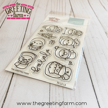 The Greeting Farm FA LA LA Clear Stamps tgf565