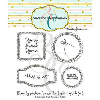 Colorado Craft Company Anita Jeram THIS IS US FRAMES Clear Stamps AJ375