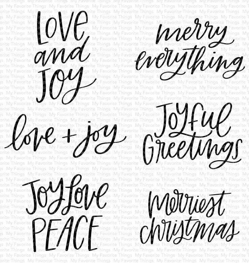 My Favorite Things MINI MERRY MESSAGES Clear Stamps cs511 zoom image