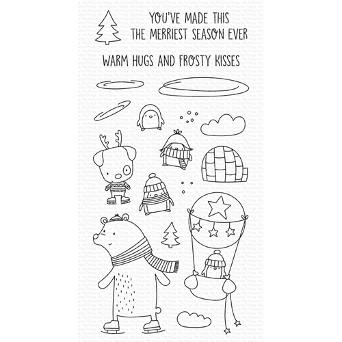 My Favorite Things WARM HUGS AND FROSTY KISSES Clear Stamps cs508 Preview Image