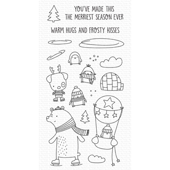 My Favorite Things WARM HUGS AND FROSTY KISSES Clear Stamps cs508*