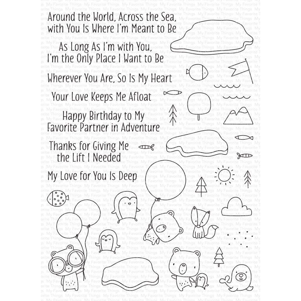 My Favorite Things PARTNERS IN ADVENTURES Clear Stamps cs514 zoom image