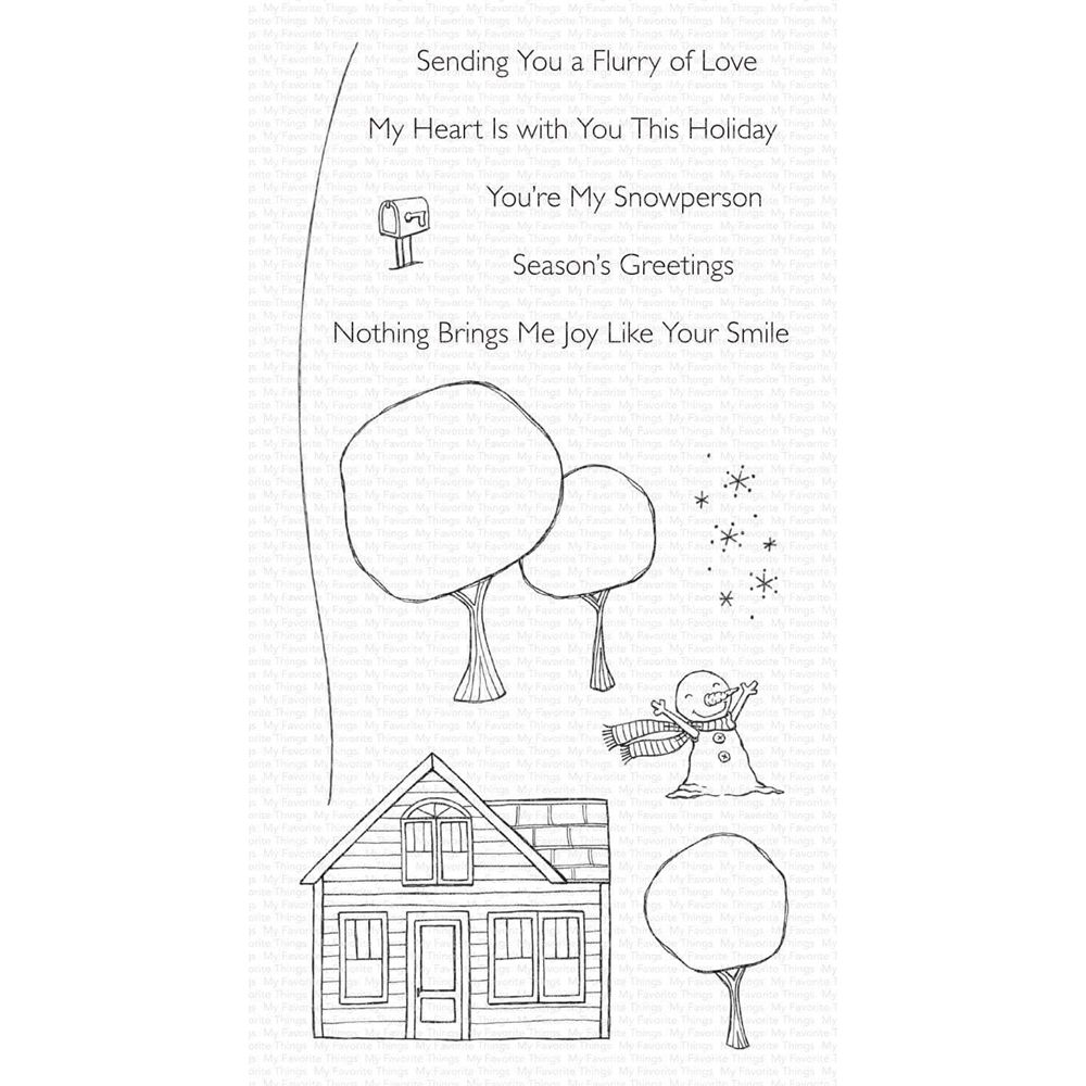 My Favorite Things FLURRY OF LOVE Clear Stamps sy25 zoom image