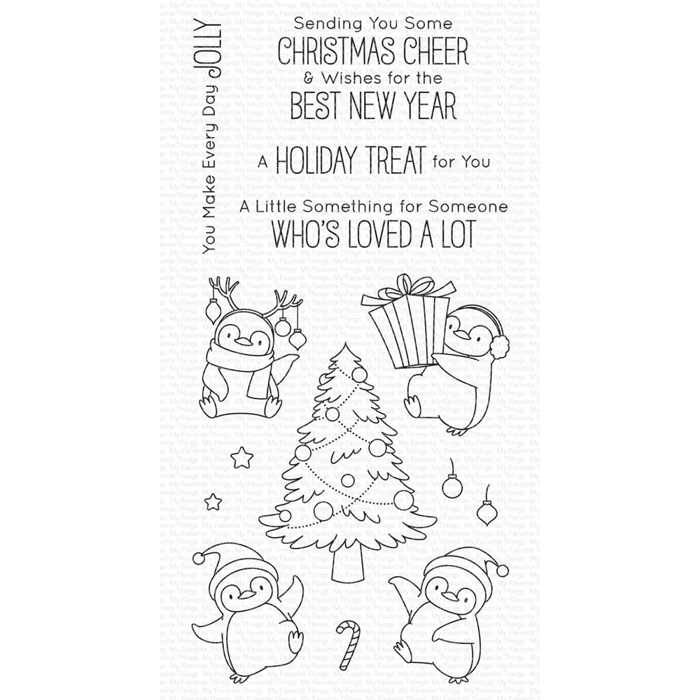 My Favorite Things HOLIDAY PENGUINS Clear Stamps bb113 zoom image