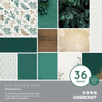 Kaisercraft EMERALD EVE 6.5 x 6.5 Inch Paper Pad pp1091