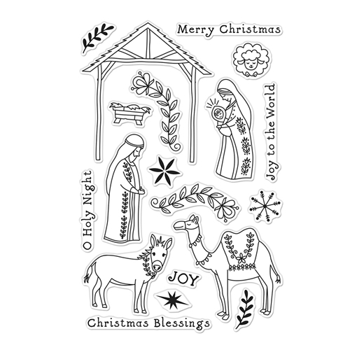 Hero Arts Clear Stamps FLORAL NATIVITY CM485 Preview Image