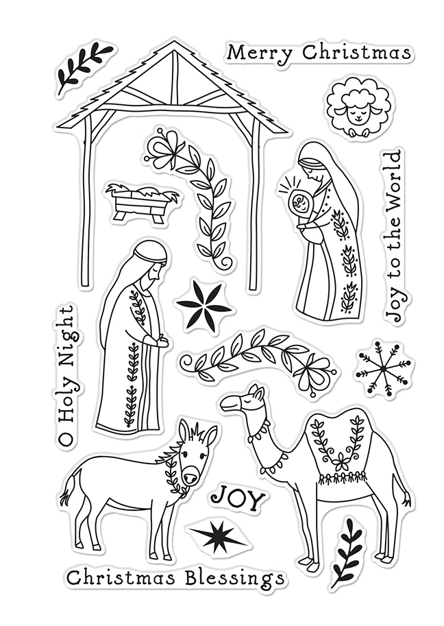 Hero Arts Clear Stamps FLORAL NATIVITY CM485 zoom image