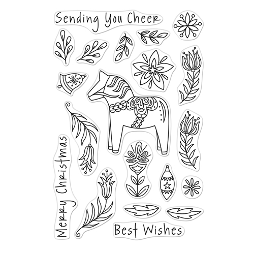 Hero Arts Clear Stamps DALA HORSE CM484 Preview Image