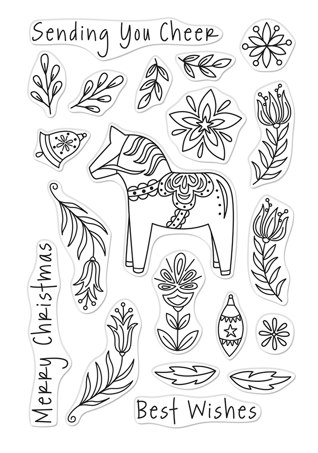 Hero Arts Clear Stamps DALA HORSE CM484 zoom image