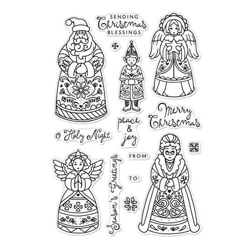 Hero Arts Clear Stamps CHRISTMAS FOLKS CM483 Preview Image