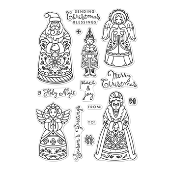 Hero Arts Clear Stamps CHRISTMAS FOLKS CM483
