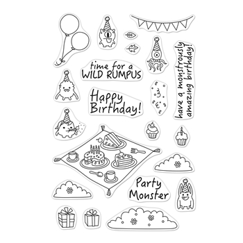 Hero Arts Clear Stamps PARTY MONSTERS CM486