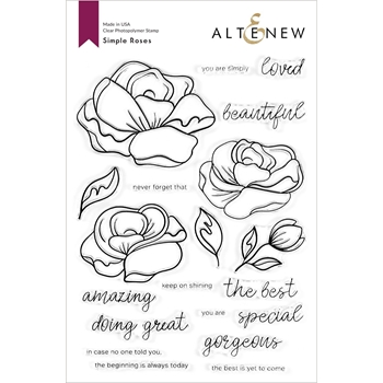 Altenew SIMPLE ROSES Clear Stamps ALT4529*