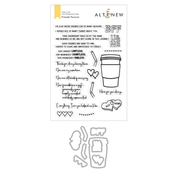 Altenew FRIENDS FOREVER Clear Stamp and Die Bundle ALT4525